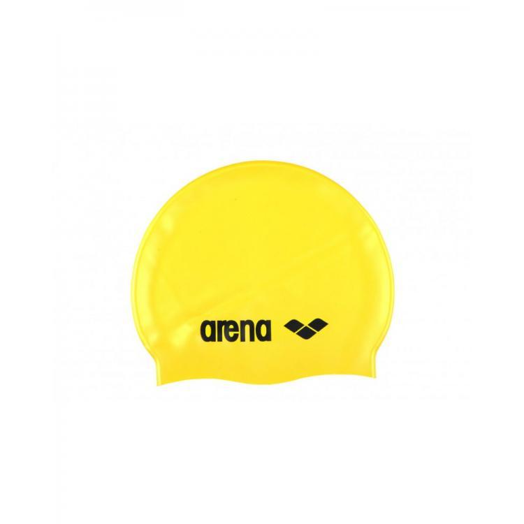czepek_silikonowy_arena_classic_silicone_yellow_black_na_basen_do_pływania